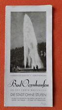 altes Reise Prospekt Bad Oeynhausen, Die Stadt ohne Stufen, um 1932