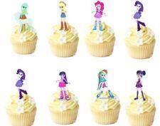 "16  Equestria Girls STAND UP Edible Cupcake  Cake Topper Decorations 3"" Pre-Cut"