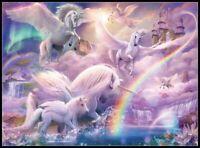 Pegasus Unicorns-Counted Cross Stitch Pattern Needlework Chart DIY X Stitch
