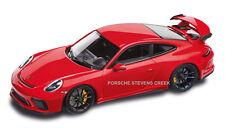 Porsche 911 GT3 Diecast Model 1:43 Scale Guards Red Black Interior Model Car