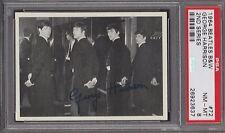 1964  OPC  BEATLES  B&W  # 72  GEORGE HARRISON   PSA 8   DARK BACK
