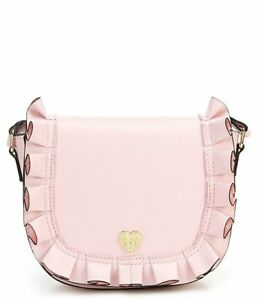 Betsey Johnson Kitsch Ruffle Me Up Small Blush Pink Saddle Bag FACTORY SEALED