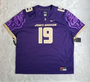 Men's Nike NCAA James Madison Dukes Untouchable Game Jersey No #19 Purple