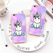 Cute UNICORN Pattern Slim TPU Back Case Cover For iPhone 8 7 6 Plus Samsung S8
