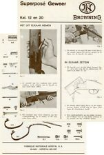Browning 1966-Superpose Special Chasse Manual Flyer (Dutch)