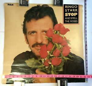 """RINGO STARR Stop & Smell the Roses Promo Poster VERY RARE 22""""x22"""" VERSION"""