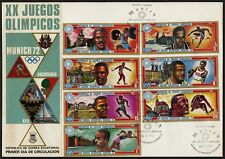 C29 Equatorial Guinea Oversized FDC 1972 Munich Olympics Gold Medal Winners Set