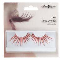 Stargazer False Feather Eyelashes #58 Red and Diamante
