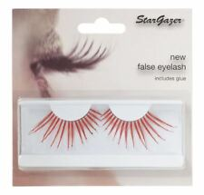 Stargazer False Feather Eyelashes #58 Red and Diamante