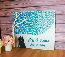 3D Wedding guest book alternative Wedding sign guestbook Rustic Family tree