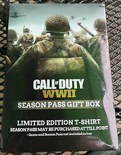 Call of Duty WWII T-SHIRT Large.  Brand New. Season Pass Gift Box. World War 2