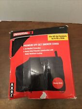 """Universal Premium Off-Set Smoker Cover Heavy Duty Fits up to 60"""" W Black"""