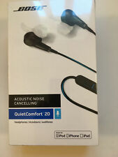 Bose QuietComfort 20 QC20i Acoustic Noise Cancelling Headphones Black Apple
