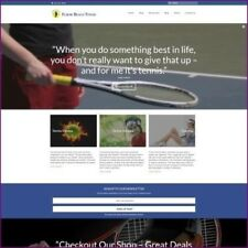 TENNIS Website Business For Sale - Upto £287.60 Commission A Sale Dropshipping