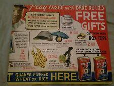 babe ruth quaker oats