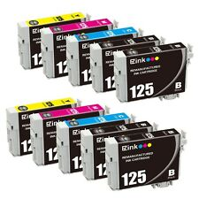 10PK 125 Black & Color Ink Cartridges For Epson WorkForce WF-325 WF-520
