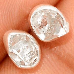 Herkimer Diamond - USA 925 Sterling Silver Earrings Stud Jewelry BE45070