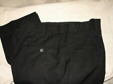 CM Silver Edition SLACKS / PANTS, Pleat Front, Black, Sz 38 x 38 Tall, EUC