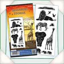 Katy Sue Design STAMPS DL Silhouette Stamps SAVANNAH STORIES 0510084SILS ANIMALS
