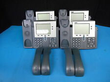 Lot Of 4 CISCO SYSTEMS 7940 Series model CP-7940G IP BUSINESS PHONE w/ Headsets