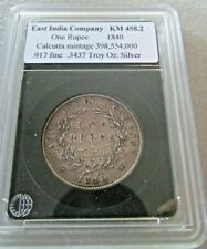 1840 East India Company Silver One Rupee