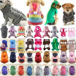 Knited Pet Puppy Cats Jumper Hoodie Warm Apparel Clothes Coat Costume Small Dogs
