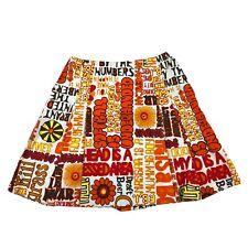 Vintage 70s Hippie Handmade Skorts Shorts Skirt Far Out Woodstock Peace Love