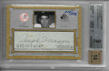 2001 DiMaggio Yankees Legendary Cuts /275  BGS 9 AUTO 10