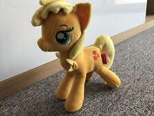 "Hasbro 12"" My Little Pony Applejack Plush Famosa Softies Yellow Sparkly Glittery"