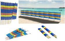 4 5 6 8 10 Wooden Poles Windbreaker Windbreak Beach Camping Sun Screen Shelter