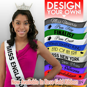 Personalised Pageant/Prom Sash Homecoming King Queen Decoration Party Present
