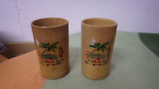 """Lot of 2 Puerto Rico Drinking Cups Cup Collectible Barware 4.5"""" Tall New"""