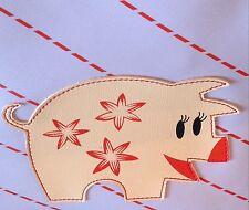 Vintage (2004) Naugahyde/Vegan Paul Frank Ester Pig Purse/Pocketbook USA