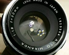 Auto Miranda 50mm f1.8 Bayonet Mount Prime manual Lens (with oil on blades)