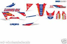 Decal Graphic Kit Honda CRF 450 R Dirt Bike Sticker Backgrounds CRF450 05-08 LO