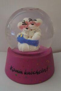"""Diddl Glaskugel """" Komm kuscheln!"""" 8,5 cm x 7 cm Schneekugel, Rarität"""