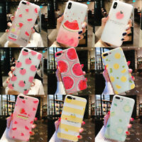 Cute Fruit Pattern Soft Phone Protective Case Cover For iPhone X 5 6 6s 7 8 Plus