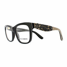 Dolce and Gabbana Glasses Frames 3239 2998 Top Black Texture Tissue Womens 52mm
