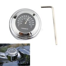 """1"""" 7/8"""" Chrome Thermometer For Honda Shadow Spirit ACE Aero Deluxe 1100 750 600"""