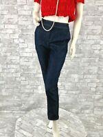 New St. John Runway Auth Stretch Blue Cotton Jeans Pants Slacks 4 US 40 IT S USA