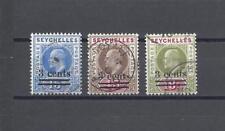 SEYCHELLES 1903 SG 57/9 USED Cat £50