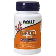 Now Foods 7-Keto 100mg - 60 Vegetarian Capsules
