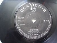 "ELVIS PRESLEY 47 9768  BLACK RARE SINGLE 7"" 45 RPM INDIA INDIAN VG"