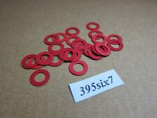 25 Pcs Red Fiber Washer - 5.5mm x 9.5mm x 0.4mm