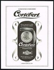 40s Vintage Cortebert Swiss Watch Adam-Louis 1804 Albert Juillard 1945 Print AD