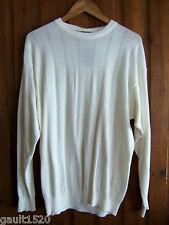 NWT Tricots St. Raphael Designer Stone Wash White Handsome Jumper Sweater S $395