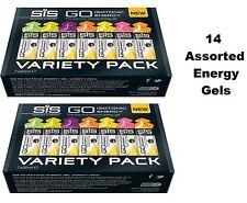 SiS Variety 14 x GO Energy Sports Gel Gels 7 flavours 60ml Science in Sport