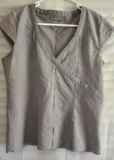 Gorgeous Fitted Cotton Top RJWear 60% Cotton - Linen Look  Size 10