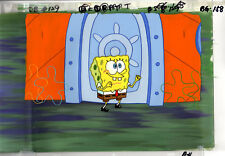 INVESTMENT GRADE !!!  Spongebob Prod TWO CEL SU AND HP BACKGROUND #7194D