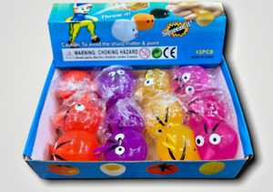 Angry Bird Sticky Bombs Squish Splat Ball Smash it Squishy Toy 12 Pack a Box